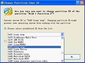 What is and how to change Partition Type ID?